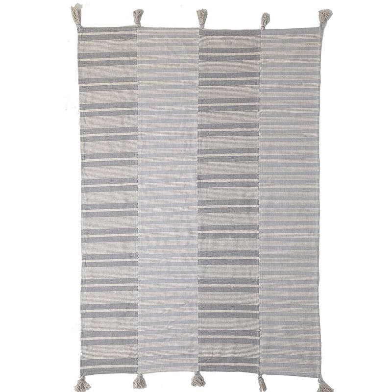 Χαλί Διαδρόμου All Season Royal Carpet Lotus Cotton Kilim 0.70X1.40 – 066 Grey/White (70×140)