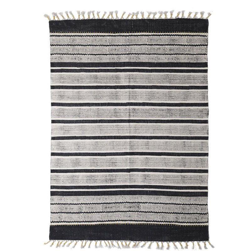 Χαλί Διαδρόμου All Season Royal Carpet Lotus Cotton Kilim 0.70X1.40 – 338 Black