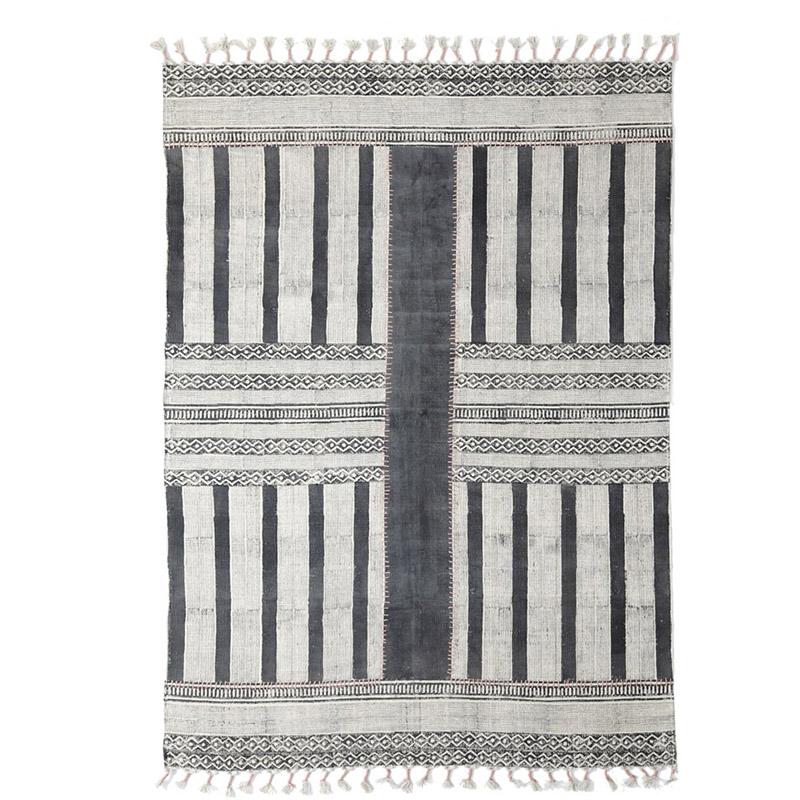 Χαλί Σαλονιού All Season Royal Carpet Lotus Cotton Kilim 1.00X1.60 - 352 Grey
