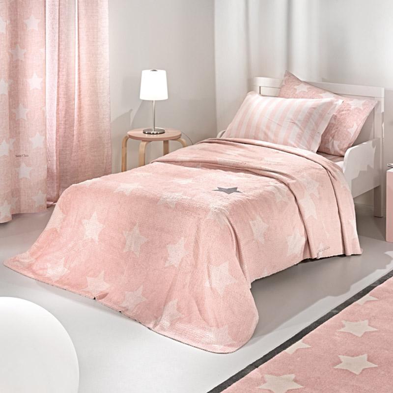 Κουβέρτα Βελουτέ Μονή 160X220 Saint Clair Ultrasoft Pirineo Pink