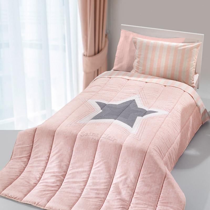 Κουβερλί Μονό 160X220 Saint Clair Pirineo Pink Suede (160x220)
