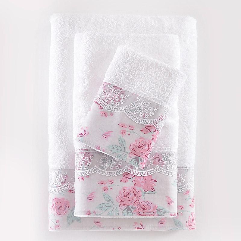 Πετσέτες Μπάνιου (Σετ 3 Τμχ) Rythmos Amelie Φασα Λιλα