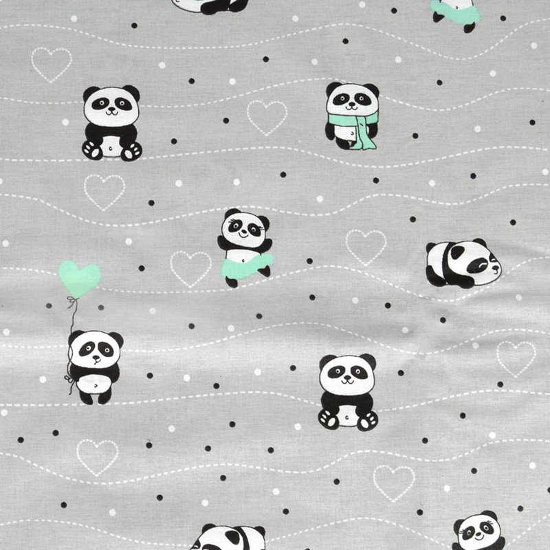 Σεντόνι Μεμονωμένο Λίκνου 80X110 Dimcol Panda 112 Πράσινο Χωρίς Λάστιχο
