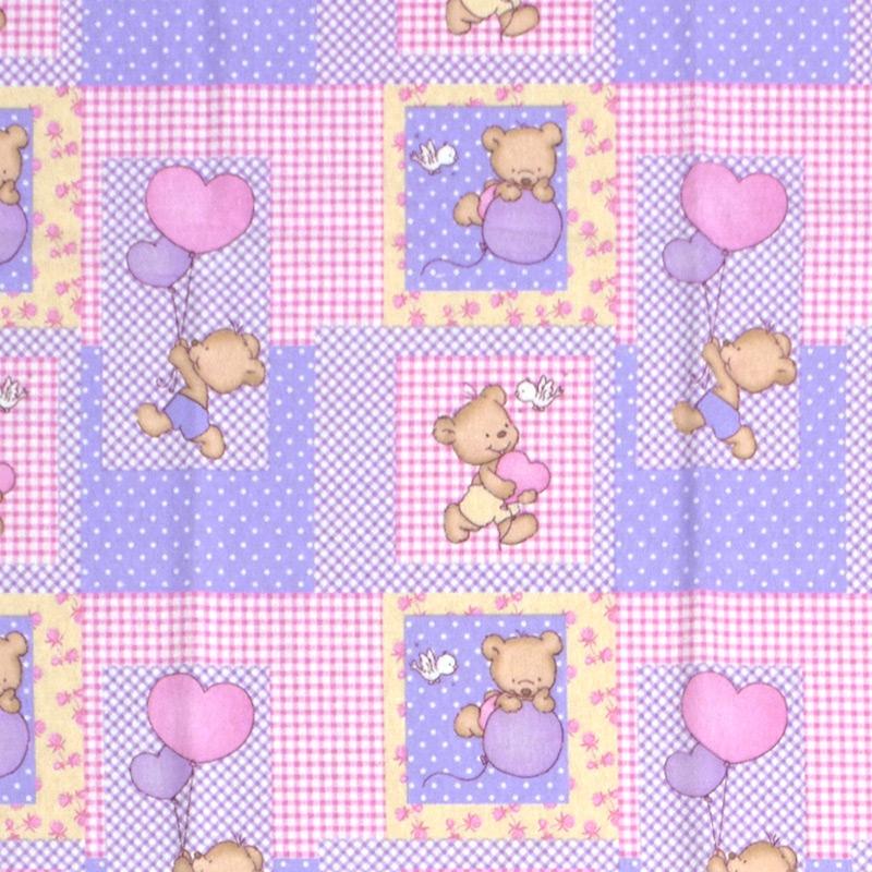 Σεντόνι Φανελένιο Λίκνου 80X110 Dimcol Baloon 75 Ροζ Χωρίς Λάστιχο (80×110)