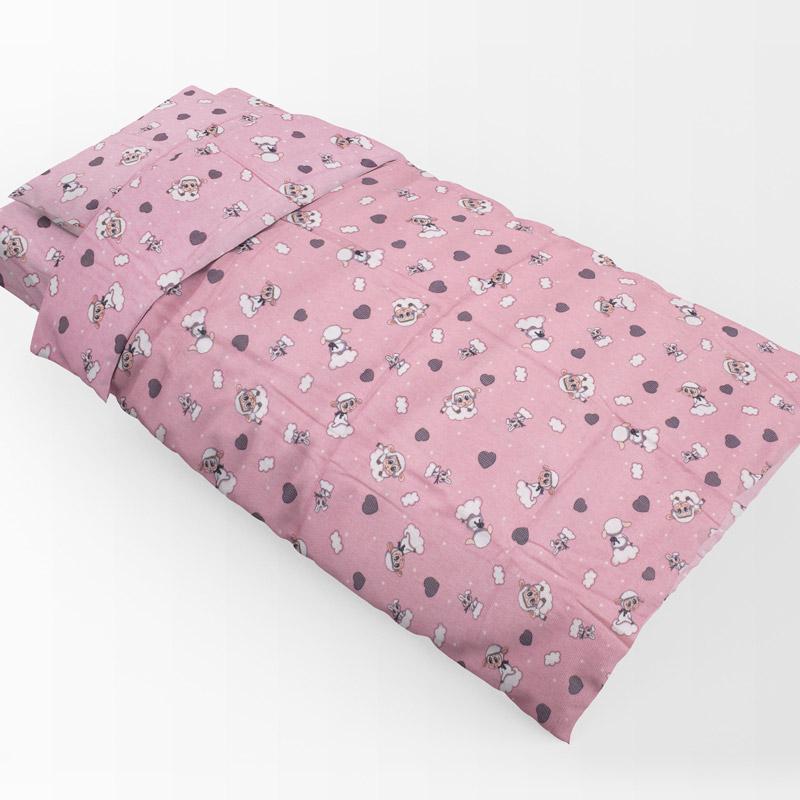 Πάπλωμα Φανελένιο 120X160 Dimcol Προβατάκι 05 Pink