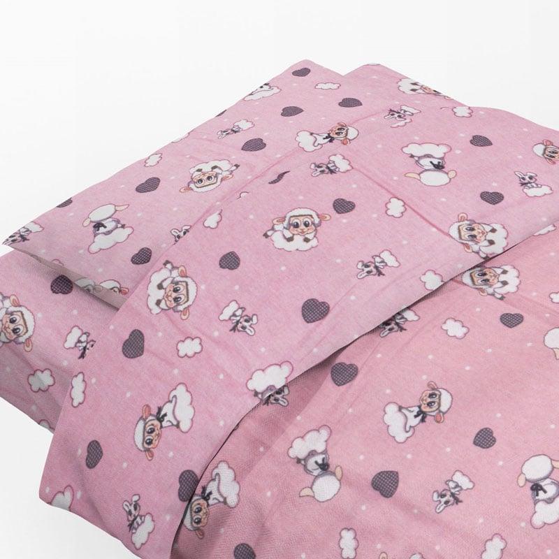 Φανελένια Μαξιλαροθήκη Τεμάχιο 50X70 Dimcol Προβατάκι 05 Pink
