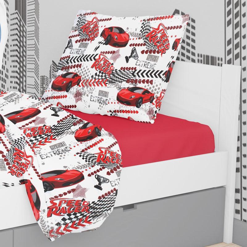Μαξιλαροθήκη Τεμάχιο 50X70 Dimcol Speed Racer 290 (50x70)