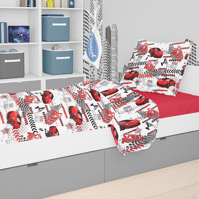 Παπλωμα Μονό Dimcol 160Χ240 Speed Racer 290 Red