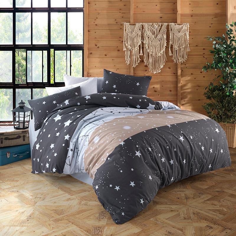 Σεντόνια Μονά (Σετ) 160X240 Dimcol Γαλαξίας 306 Χωρίς Λάστιχο