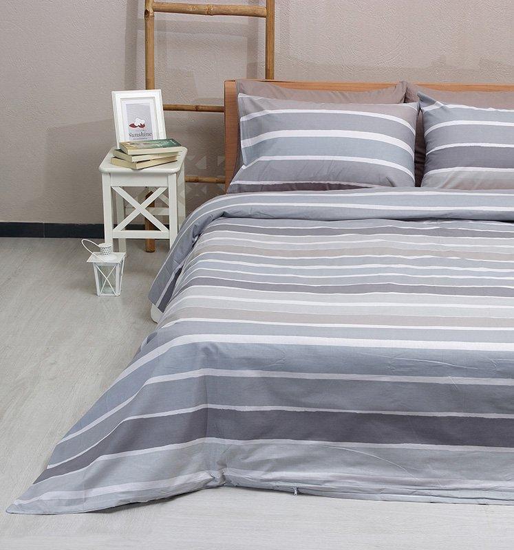 Σεντόνια Μονά (Σετ) 100% Βαμβάκι 2020 Grey