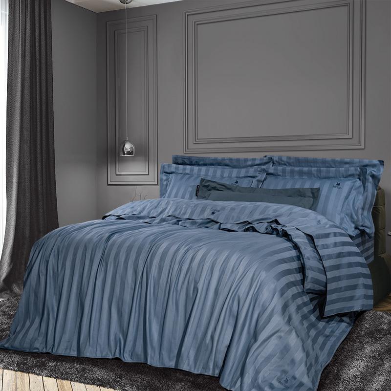 Σεντόνια Υπέρδιπλα (Σετ) 240×270 Greenwich Polo Club Essential 2073 Μπλε Χωρίς Λάστιχο