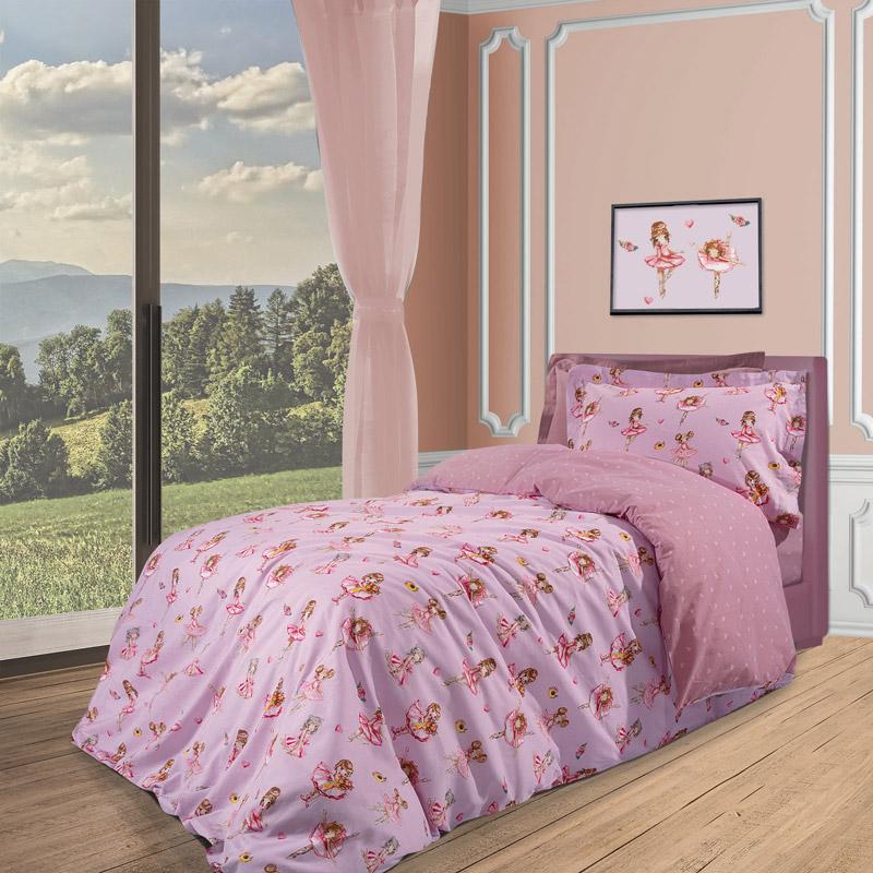 Σεντόνια Μονά (Σετ) 170X260 Greenwich Polo Club Essential 2936 Ροζ Χωρίς Λάστιχο