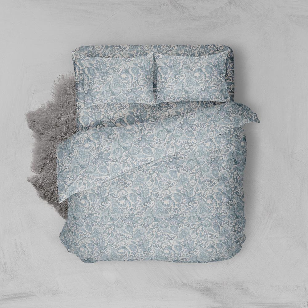 Φανελένια Σεντόνια Υπέρδιπλα (Σετ) 100% Βαμβάκι 2024 Blue