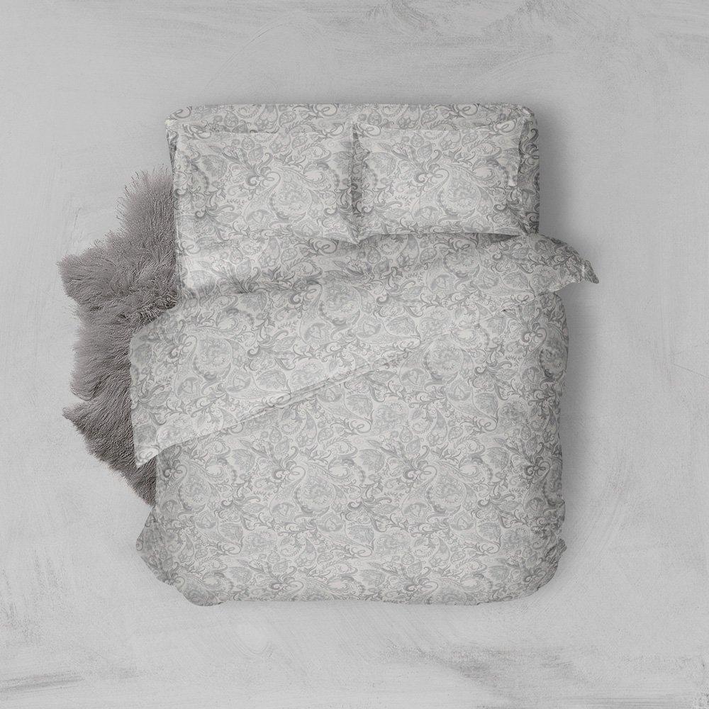 Φανελένια Σεντόνια Διπλά (Σετ) 100% Βαμβάκι 2024 Grey