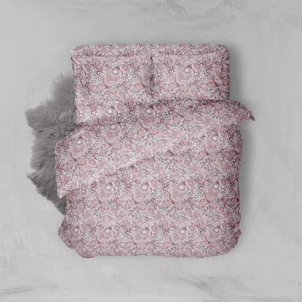 Φανελένια Σεντόνια Διπλά (Σετ) 100% Βαμβάκι 2024 Pink