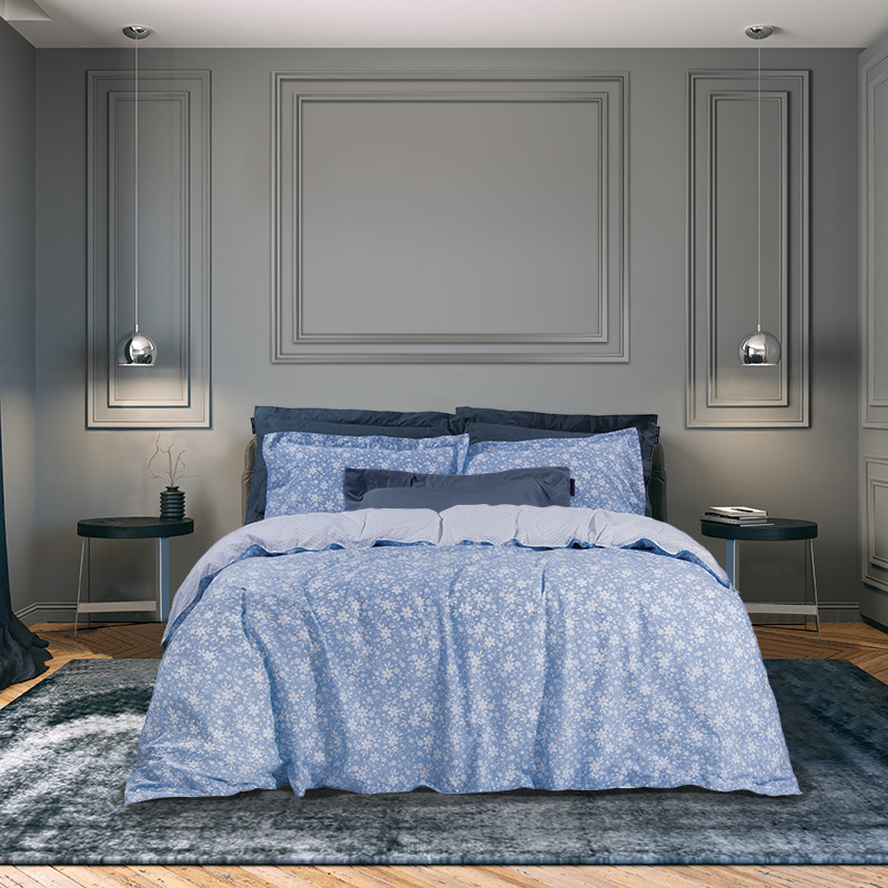 Παπλωματοθήκη Μονή (Σετ) 160×240 Greenwich Polo Club Essential 2059 Σιελ-Λευκο