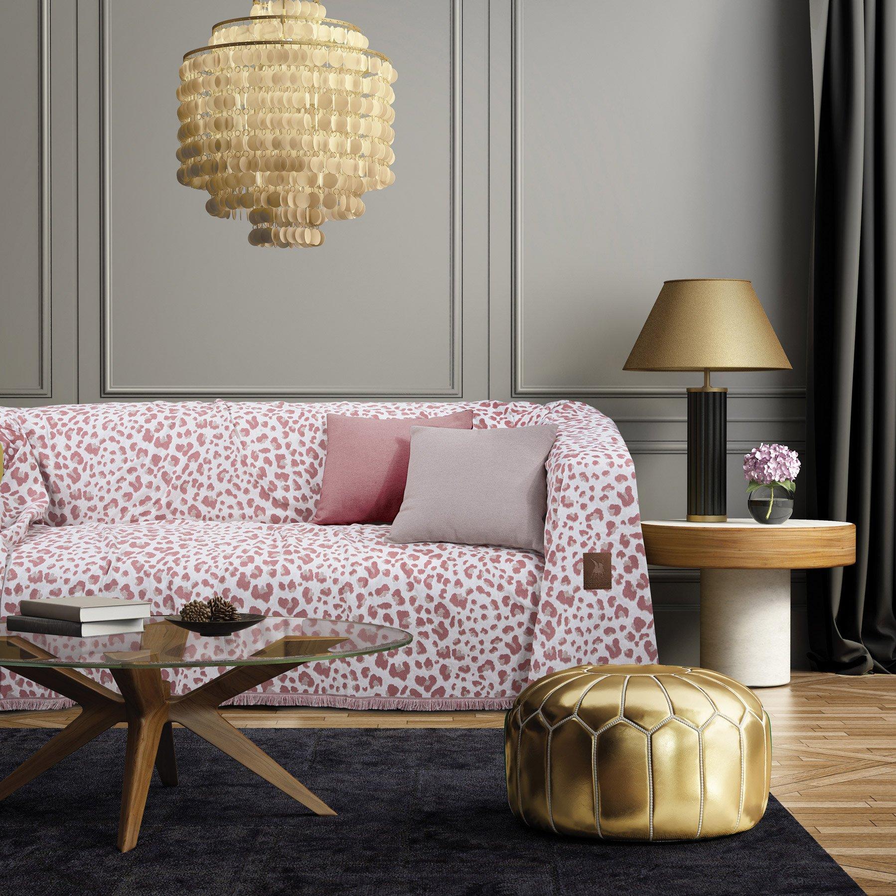 Ριχτάρι Διθέσιου 180X250 Greenwich Polo Club Essential 2745 Ροζ