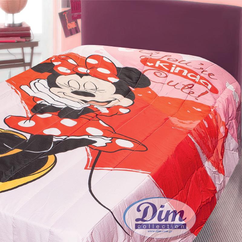 Κουβερλί Μονό 160X250 Dimcol Disney Minnie 31 Ροζ (160x250)