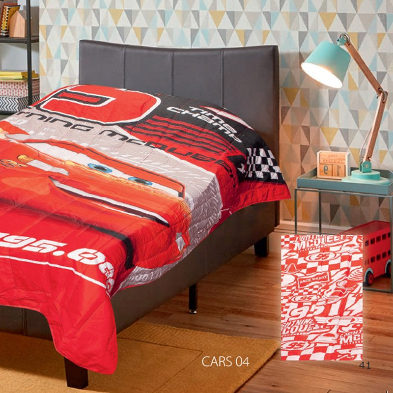 Πάπλωμα Μονό 160X250 Dimcol Disney Cars 04 Red (160x250)