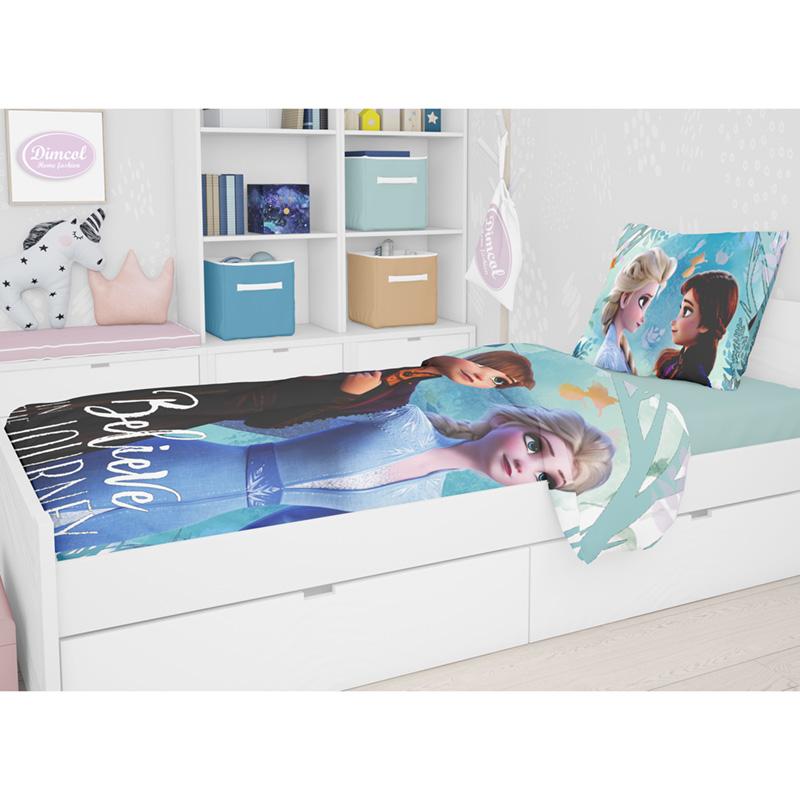 Παπλωματοθήκη Μονή (Σετ) 160X240 Disney Dimcol Frozen 980 Μωβ
