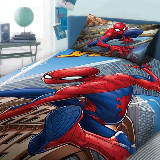 Παπλωματοθήκη Μονή (Σετ) 160X240 Dimcol Disney Spiderman 910 Μπλε