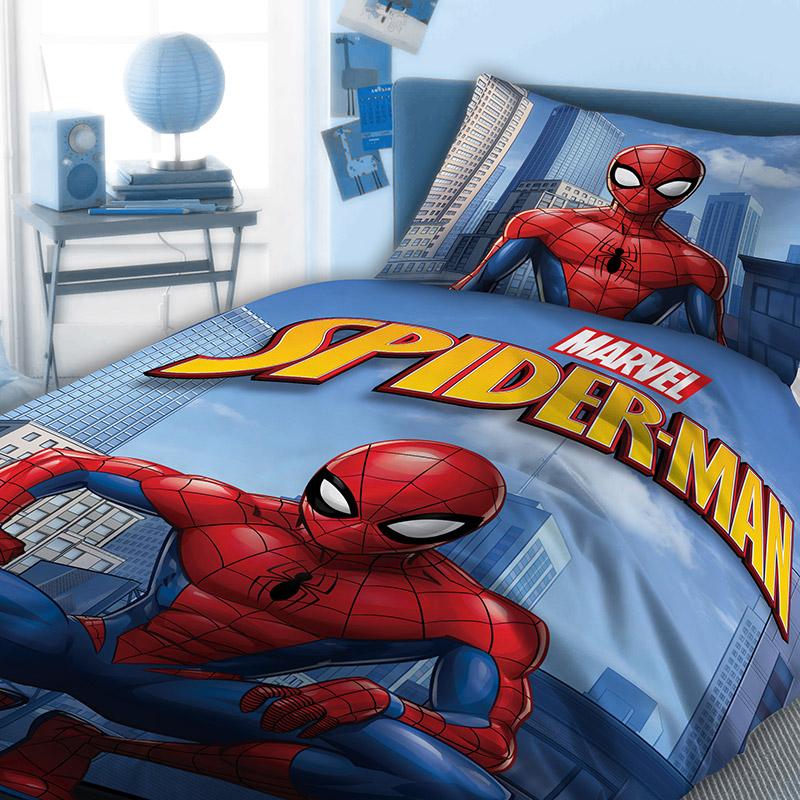 Σεντόνια Μονά (Σετ 2 Τμχ) 160X240 Disney Dimcol Spiderman 812 Χωρίς Λάστιχο (160x240)