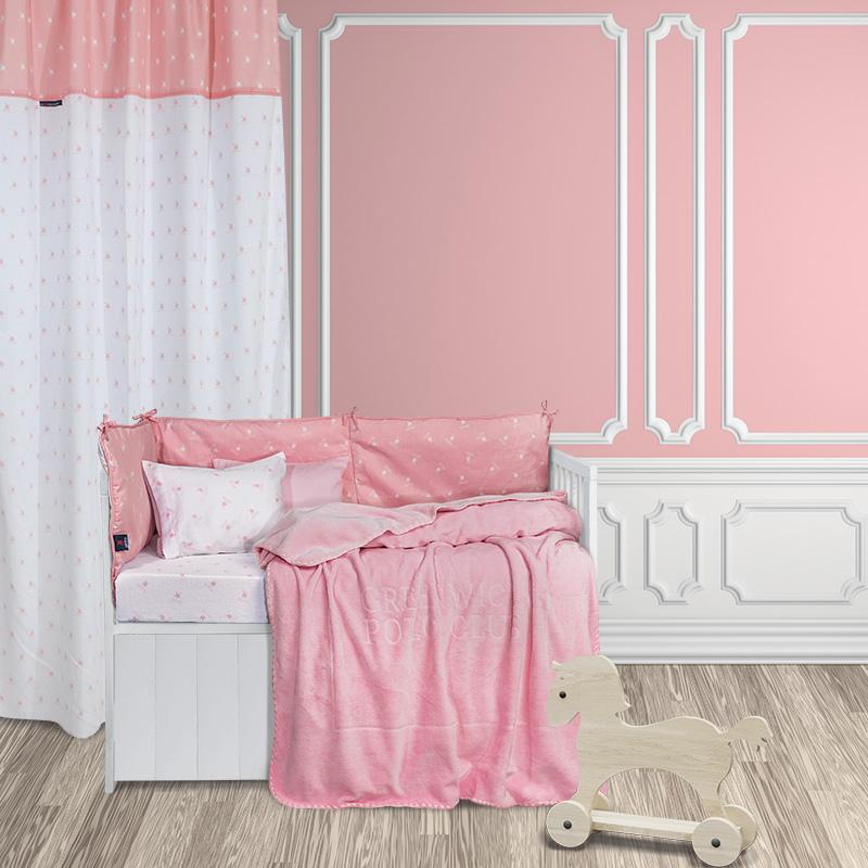 Κουβέρτα Βελουτέ Κούνιας 110×140 Greenwich Polo Club Essential 2952 Ροζ
