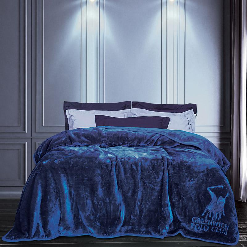 Κουβέρτα Βελουτέ Μονή 160X240 Greenwich Polo Club Essential 2455