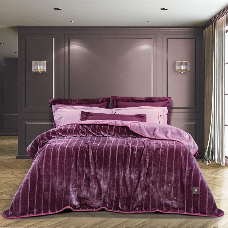 Κουβέρτα Βελουτέ Υπέρδιπλη 220×240 Greenwich Polo Club Essential 2449 Λιλα
