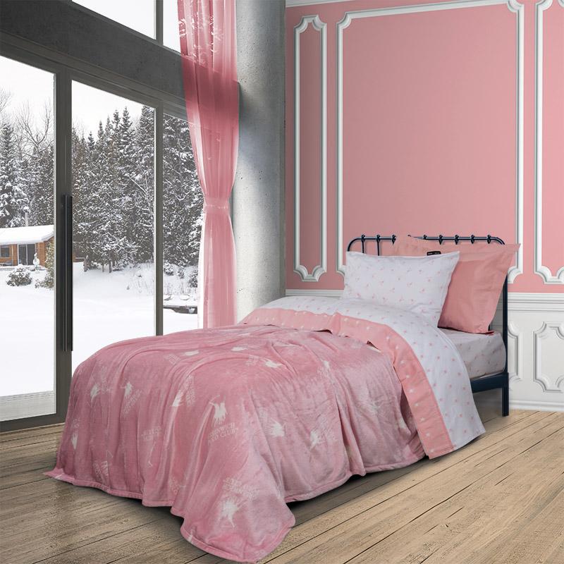 Κουβέρτα Fleece Μονή 160×220 Greenwich Polo Club Essential 2905 Ροζ