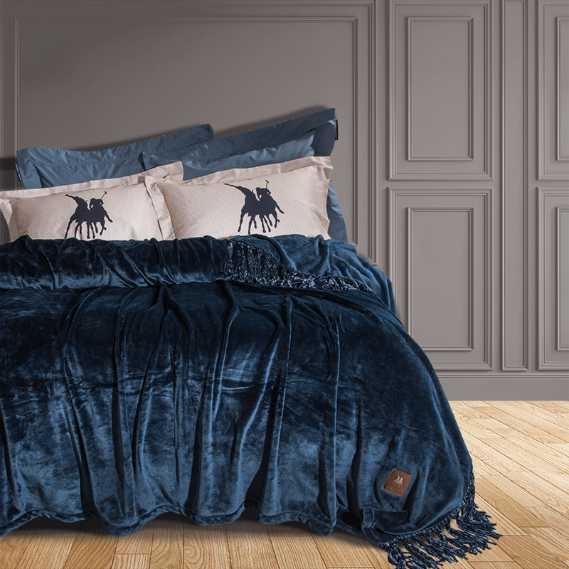 Κουβέρτα Fleece Υπέρδιπλη 220×240 Greenwich Polo Club Essential 2430 Μπλε