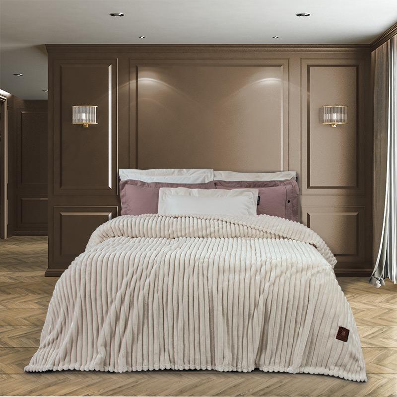 Κουβέρτα Fleece Υπέρδιπλη 220×240 Greenwich Polo Club Essential 2443 Κρεμ