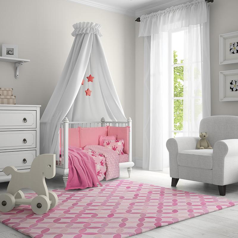 Κουβέρτα Πικέ Κούνιας 110×150 Greenwich Polo Club Essential 2958 Ροζ