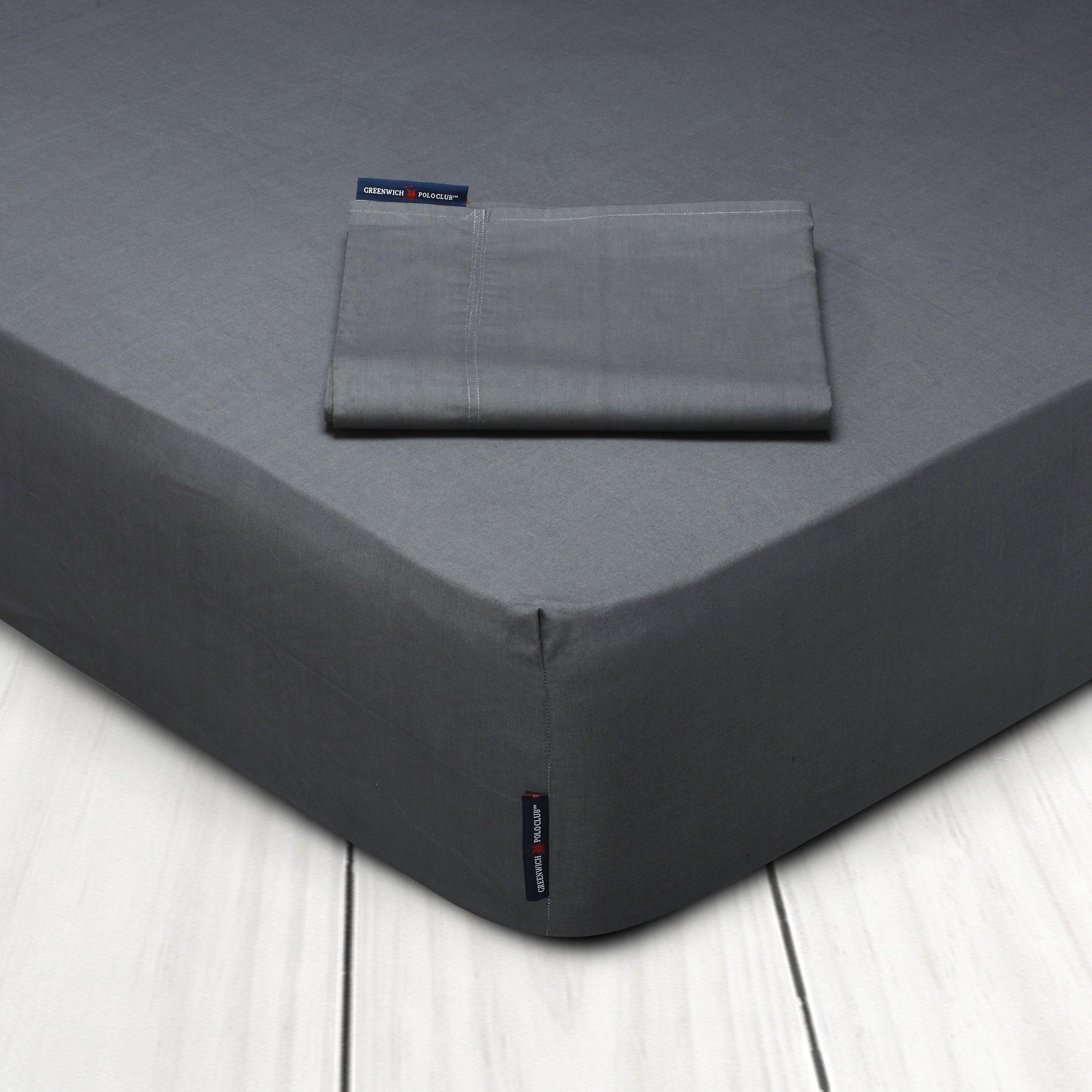 Σεντόνι Μεμονωμένο King Size 180×200+35 Greenwich Polo Club Premium 2203 Γκρι Με Λάστιχο