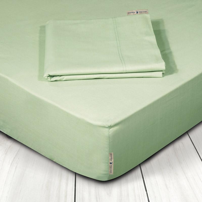 Σεντόνι Μεμονωμένο King Size 180X200+35 Greenwich Polo Club Premium 2207 Πράσινο Με Λάστιχο