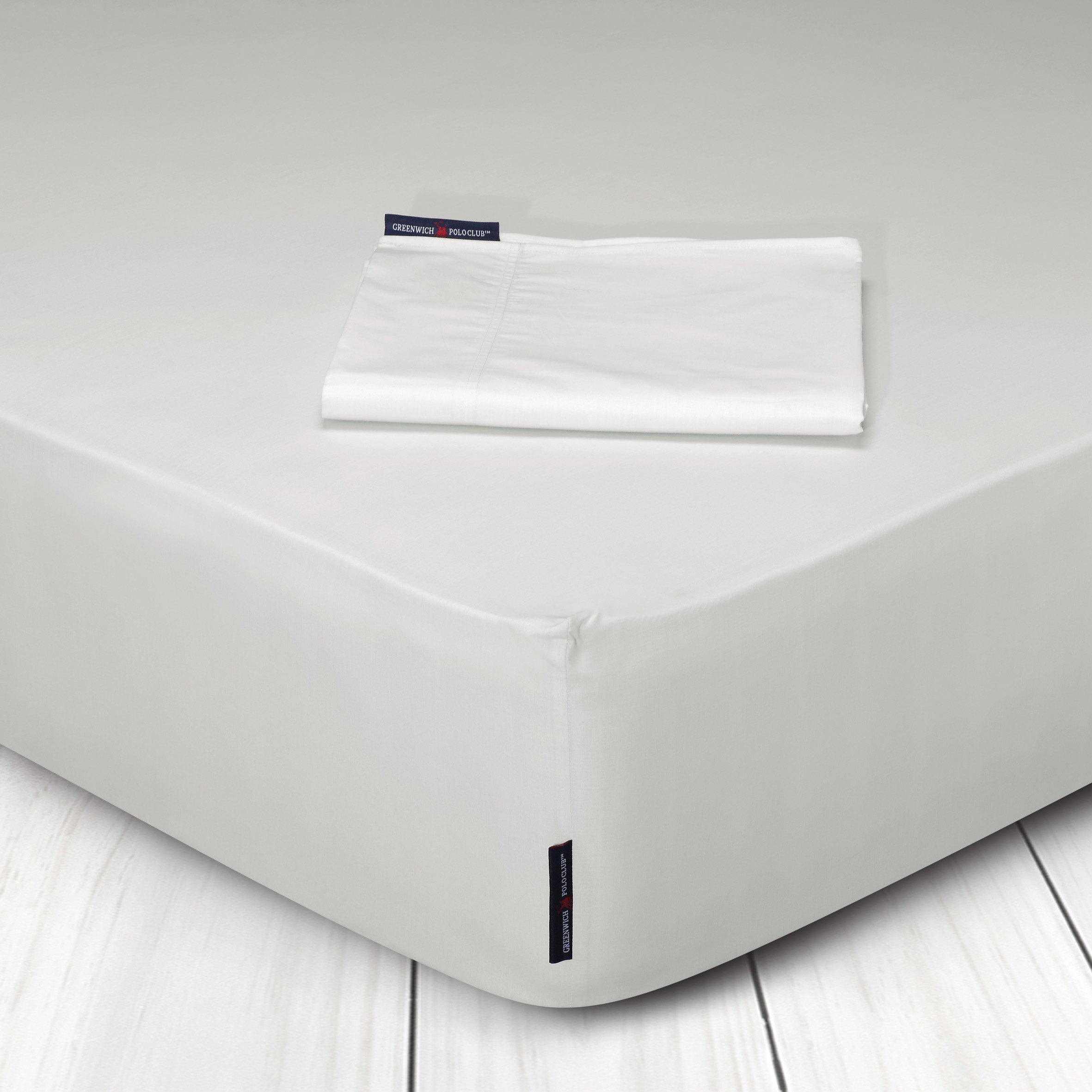 Σεντόνι Μεμονωμένο King Size 270x280 Greenwich Polo Club Premium 2200 Εκρου Χωρίς Λάστιχο (270x280)