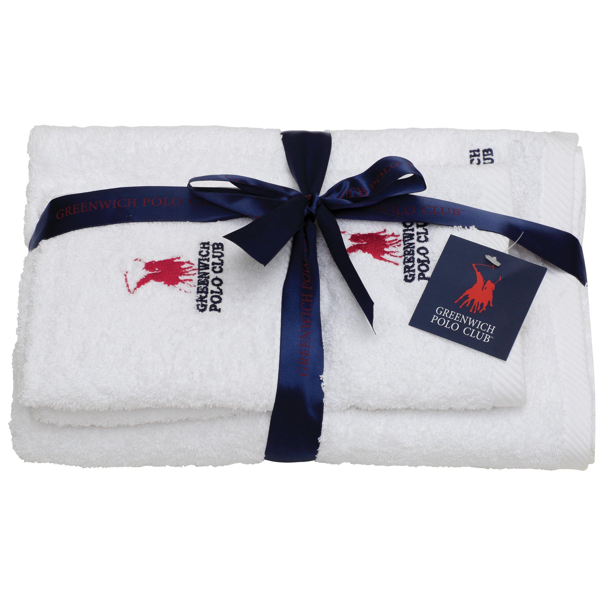 Πετσέτες Μπάνιου (Σετ 3 Τμχ) Greenwich Polo Club Essential 2500 Λευκο
