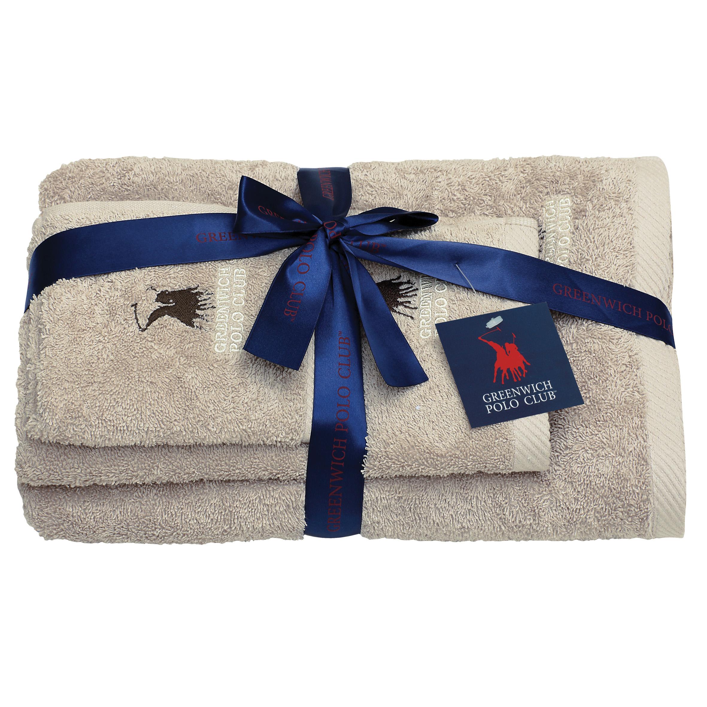Πετσέτες Μπάνιου (Σετ 3 Τμχ) Greenwich Polo Club Essential 2505 Μπεζ