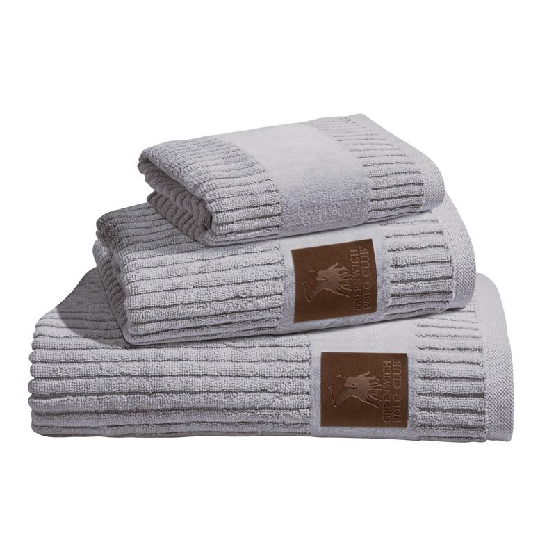 Πετσέτες Μπάνιου (Σετ 3 Τμχ) Greenwich Polo Club Essential 2529 Γκρι