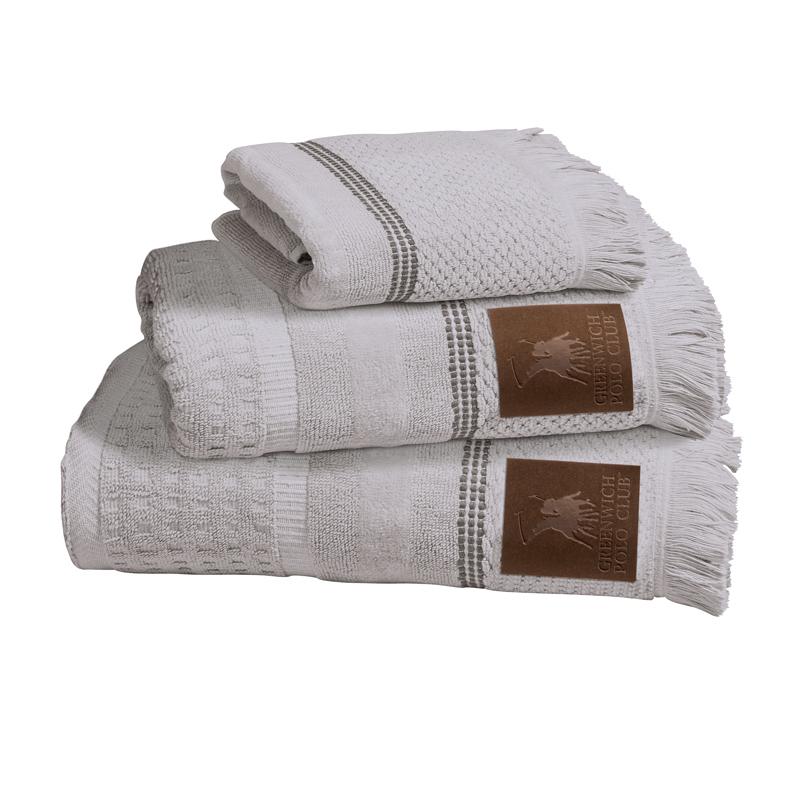 Πετσέτες Μπάνιου (Σετ 3 Τμχ) Greenwich Polo Club Essential 2532 Γκρι