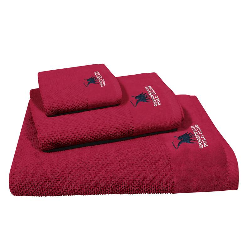 Πετσέτες Μπάνιου (Σετ 3 Τμχ) Greenwich Polo Club Essential 2540 Κόκκινο