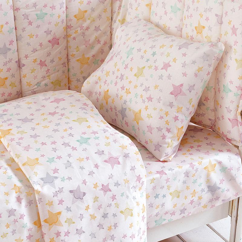 Παπλωματοθήκη Κούνιας (Σετ) 110X160 Rythmos Glow Pink