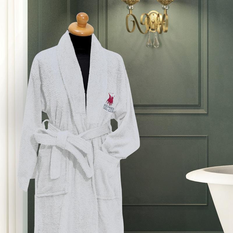 Μπουρνούζι Με Γιακά Large Greenwich Polo Club Essential 2600 Λευκο