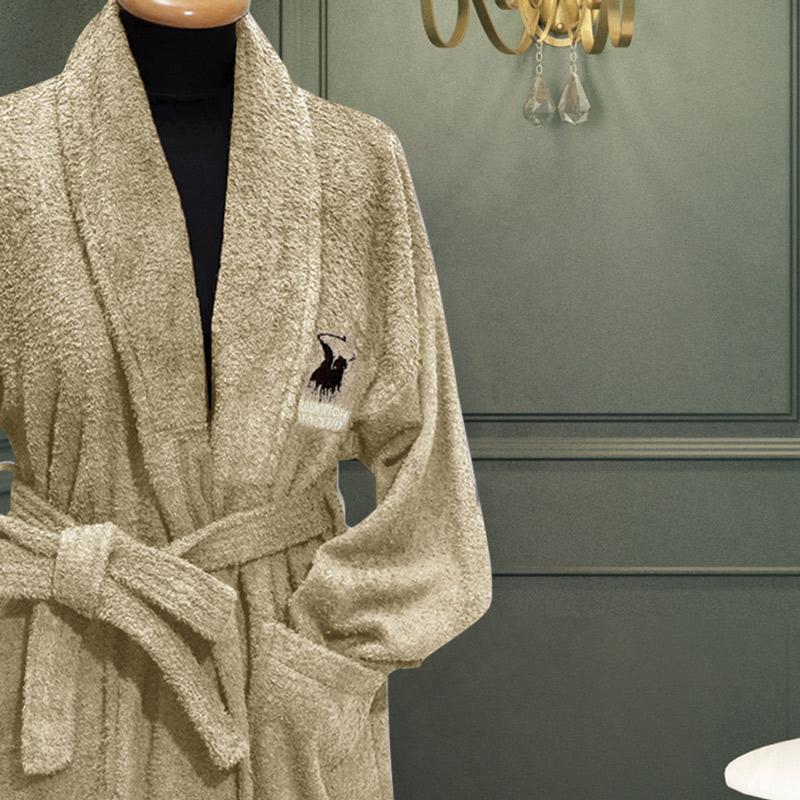 Μπουρνούζι Με Γιακά xx-Large Greenwich Polo Club Essential 2601 Μπεζ