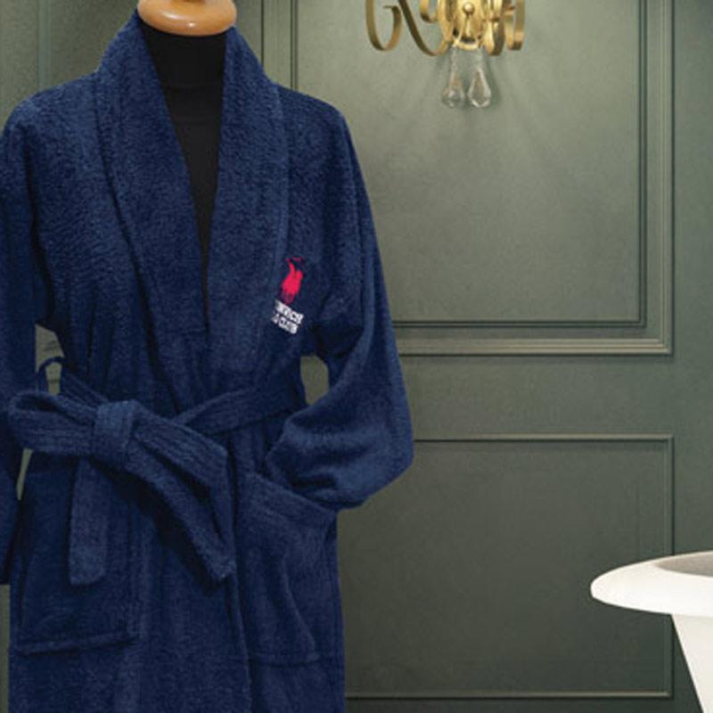 Μπουρνούζι Με Γιακά xx-Large Greenwich Polo Club Essential 2607 Μπλε