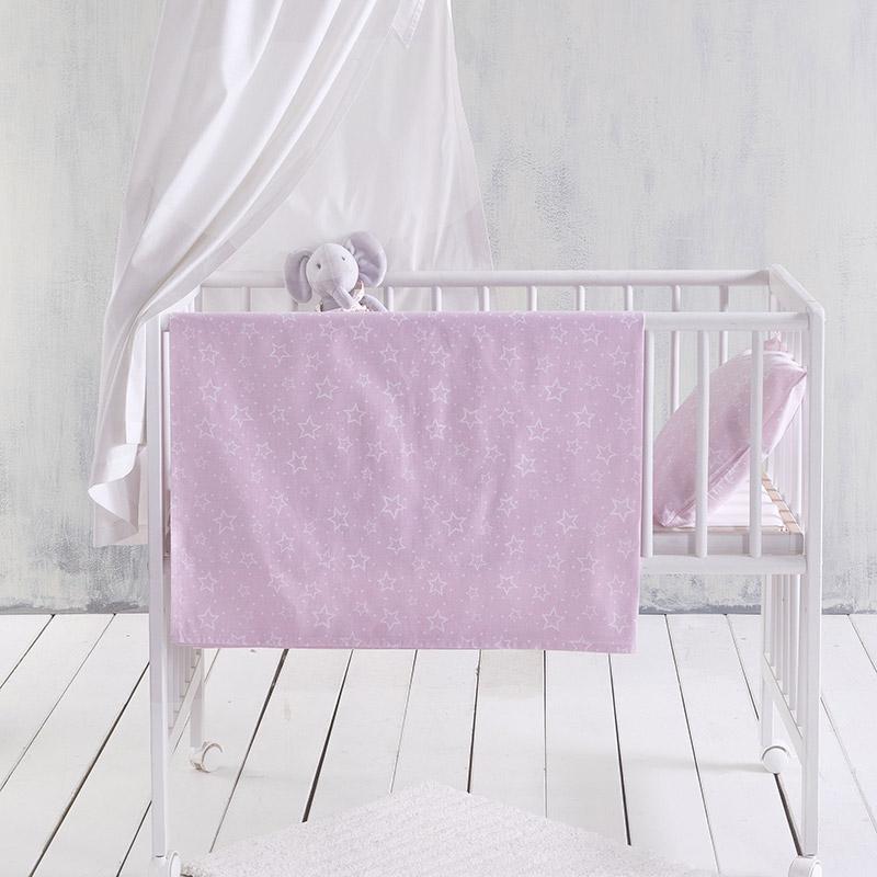 Σεντόνια Κούνιας (Σετ) 120X160 Rythmos Bright Baby Pink Χωρίς Λάστιχο