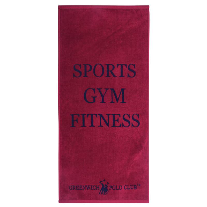 Πετσέτα Πάγκου Γυμναστηρίου 45X90 Greenwich Polo Club Essential 2558 Κόκκινο