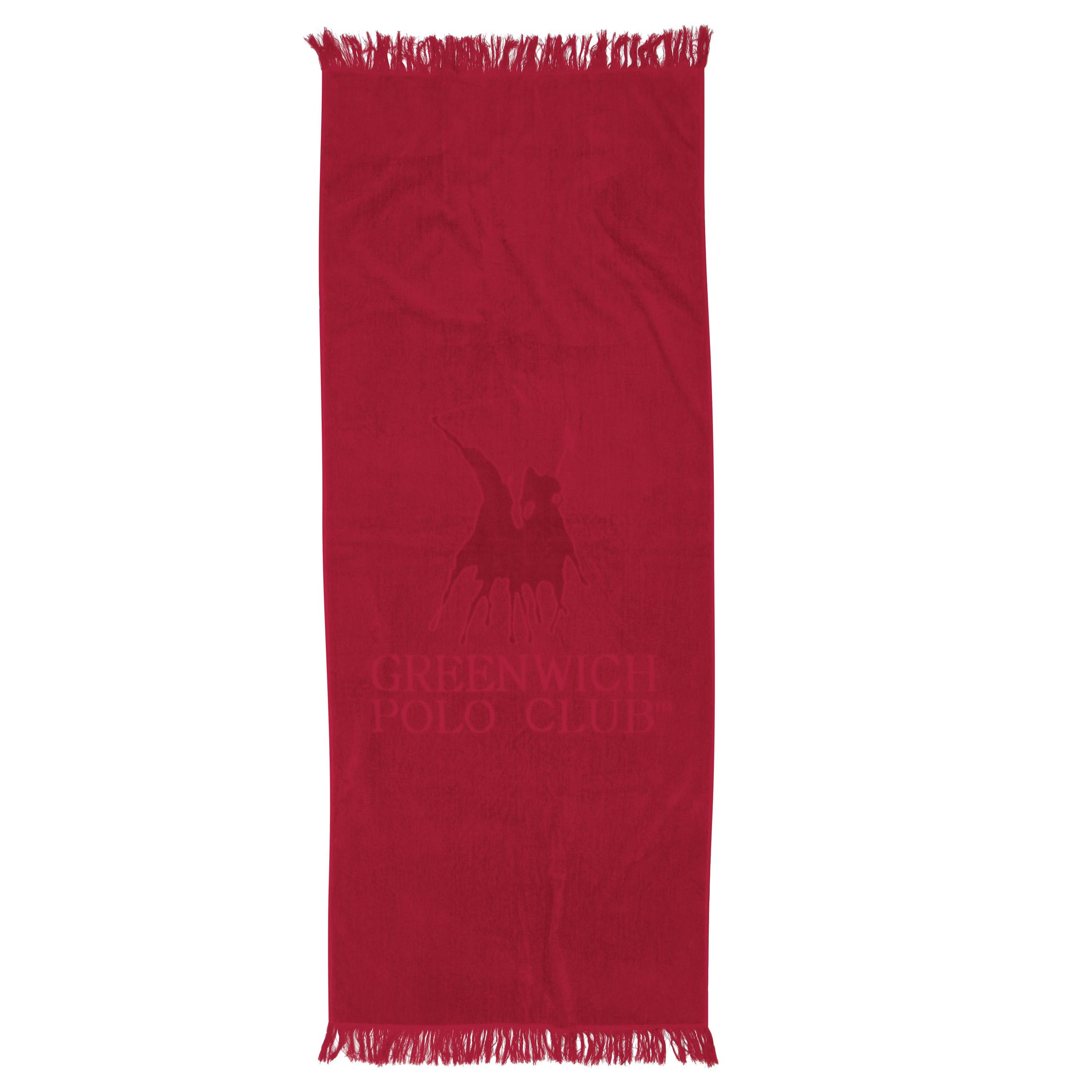 Πετσέτα Θαλάσσης 70×170 Greenwich Polo Club Essential 2809 Κοκκινο