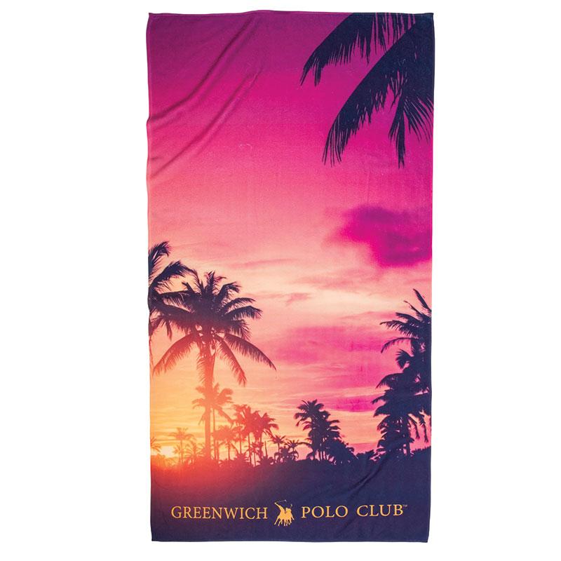 Πετσέτα Θαλάσσης 80×160 Greenwich Polo Club Essential 2862 Κοκκινο-Κιτρινο