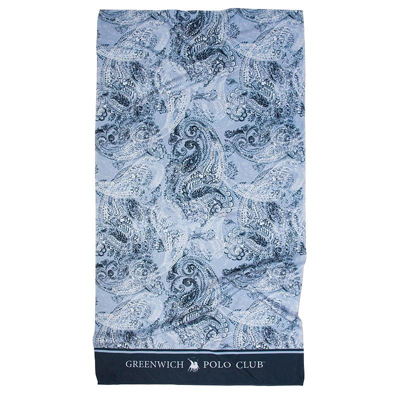 Πετσέτα Θαλάσσης 80×160 Greenwich Polo Club Essential 2867 Μπλε-Γαλαζιο-Λευκο